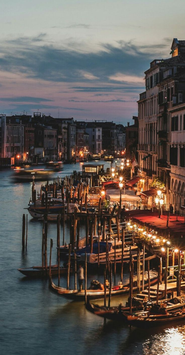 The Grand Canals ~ main waterway of Venice, follows a natural channel that traces a reverse S course from San Maria Basilica to Santa Chiara Church & divides the city into two parts, northeastern Italy