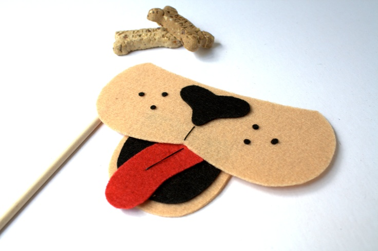 Puppy. Photo booth Props. Party Props. Wedding Photo Props. Mustache on a Stick. Photo Props - Puppy on a Stick. $7.95, via Etsy.