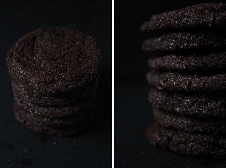 - fleur du poirier -: Chocolate Crinkle Cookies. Schokoladen-Knusper-Kekse.