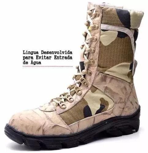coturno masculino tático bota militar stilo americana desert