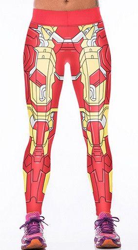 Yoga High-Waist Iron Man Leggings