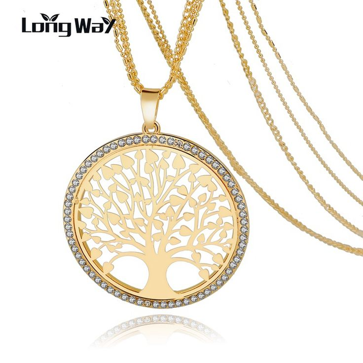Bungsa© tree of life round pendant with necklace made of 925 sterling silver, 45 cm, real jewellery, women's necklace, men