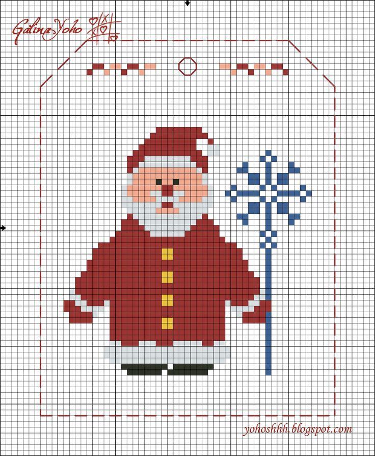Крестики без ноликов.: Новогодняя гирлянда / Christmas garland