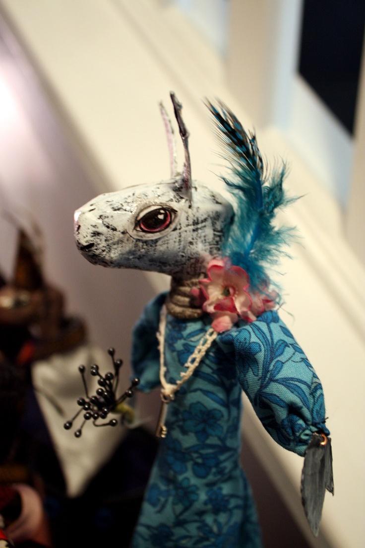 Bunny Puppet OOAK Art Doll. $40.00, via Etsy.