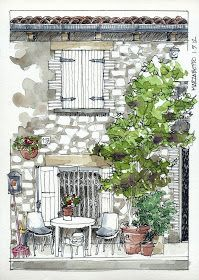 Travel diary - sketchbook - urban sketchers - art journal. JR Sketches: Italia 6º Set 2012. 17x24, Pen & Watercolor