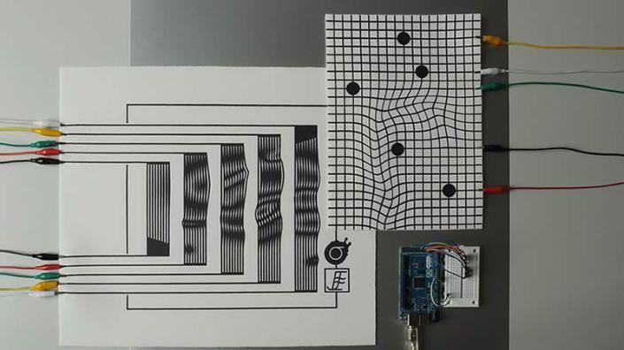 MIDI líquido: El papel se vuelve electrónico para crear controles únicos y sonidos