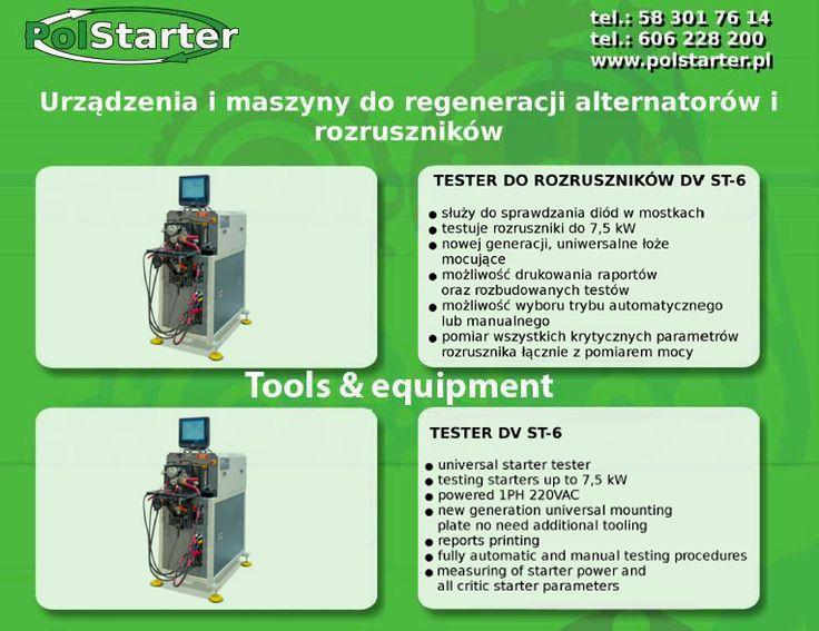 ⚫ Kolejną maszyną jaką mogą Państwo znaleźć w naszej ofercie jest TESTER DO ROZRUSZNIKÓW DVST-6:  ⚫ Link do naszego sklepu internetowego:  ➜ www.sklep.polstarter.pl  ⚫ Nasze aukcje w serwisie allegro:  ➜ http://allegro.pl/listing/user/listing.php?us_id=26261890  ⚫ Odwiedź także naszą stronę internetową: ➜ www.polstarter.pl  ⚫ KONTAKT: 📲 792 205 305 ✉ allegro@polstarter.pl  #samochód #samochody #częścisamochodowe #auto #mechanik #serwisamochodowy #rozruszniki