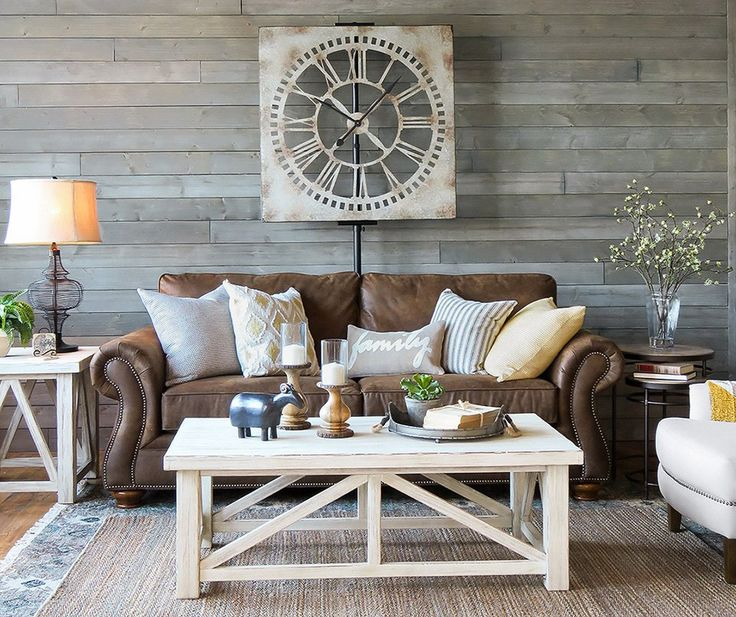 Distressed Farmhouse Living Room