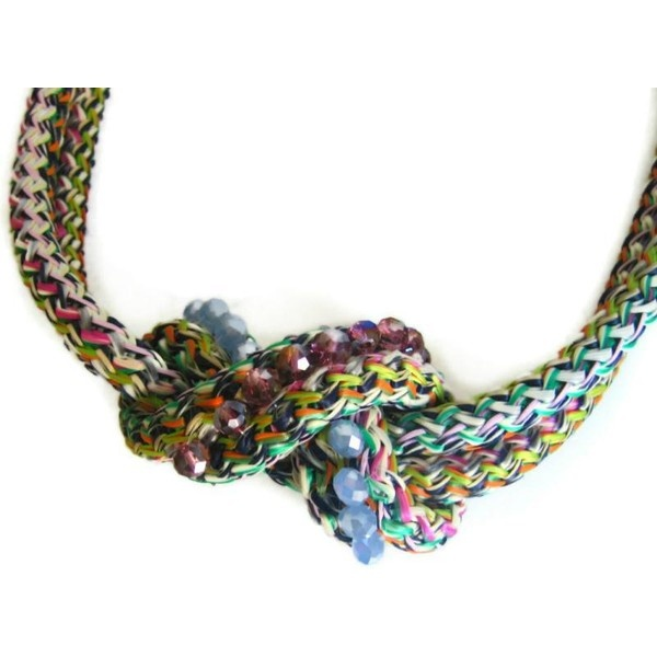 Infinity rope necklace with crystals via Polyvore
