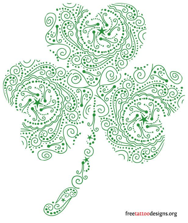 Shamrock tattoo...if I get a tattoo this is what I will get,