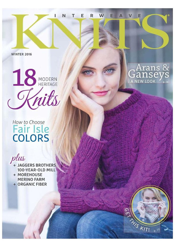 Interweave Knits Winter 2016 - Coldfield raglan sweater p.30 (no band on sleeve) - loose fit