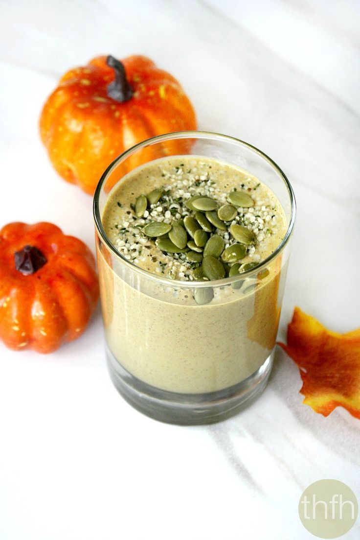 Clean Eating Pumpkin Protein Smoothie...vegan, gluten-free, dairy-free, paleo-friendly, no refined sugar | The Healthy Family and Home