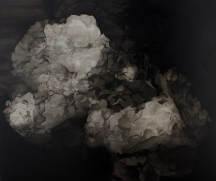 Sérgio Costa: Works - Strata #27 (Mindless into the cloudburst overhead), 2015  oil and enamel on canvas  120x144 cm