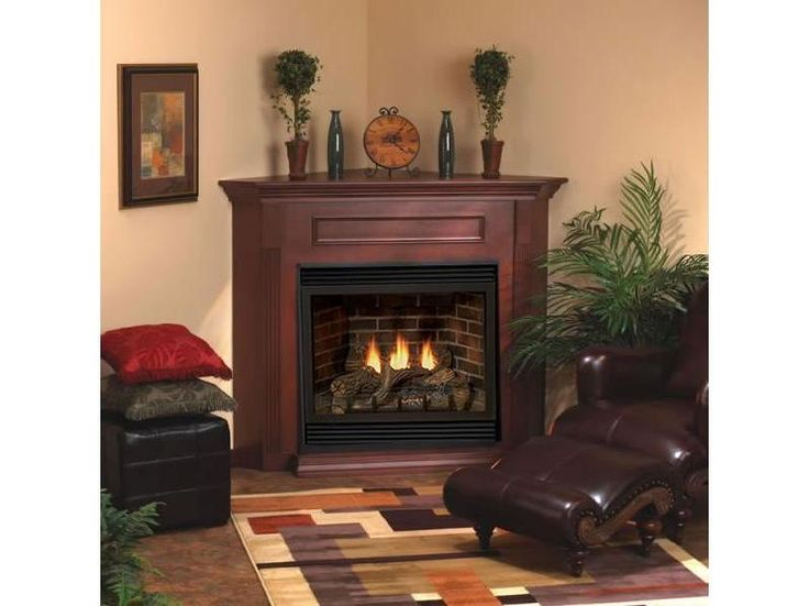 High Quality Direct Vent Corner Gas Fireplace