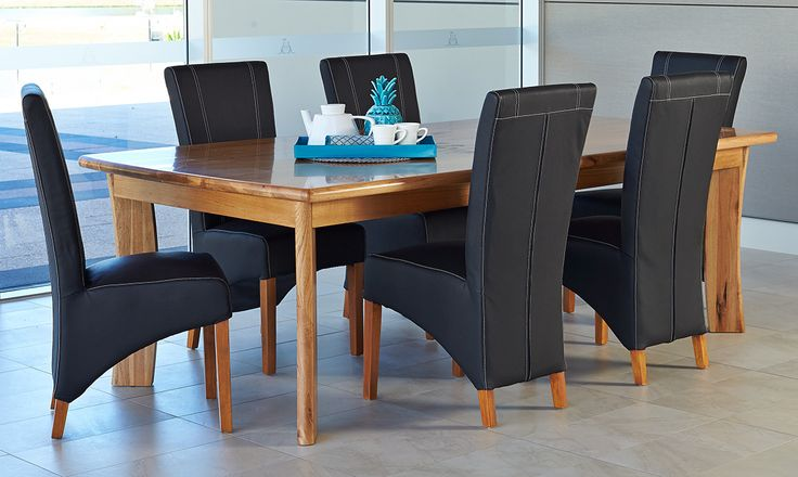 Dining Sets : Valenti 7Pce 2100 Dining Suite Forrester Chairs Perth, Western Australia - Furniture Bazaar