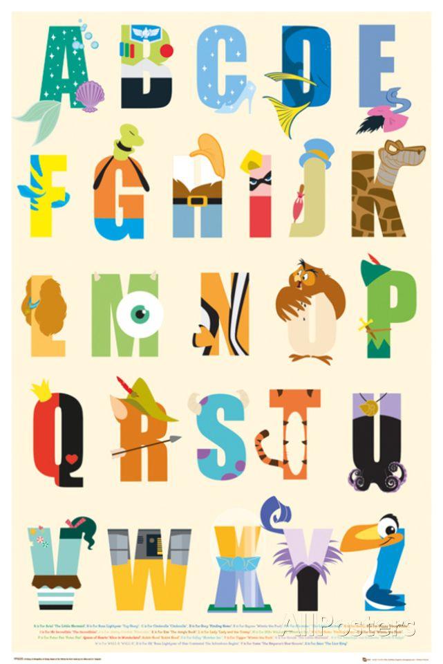 Disney - Alphabet Poster at AllPosters.com