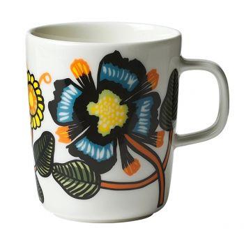 Marimekko's Oiva mug in Tiara pattern, 2,5 dl