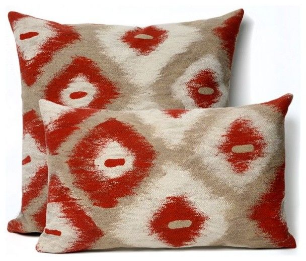 Ikat Diamonds Red Outdoor Pillow Outdoor Cushions And Pillows Red Outdoor  Cushions