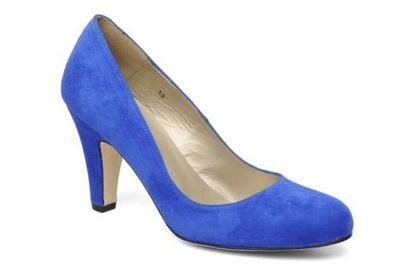 Kobaltowe czółenka - Sarenza.pl - blue heels pumps
