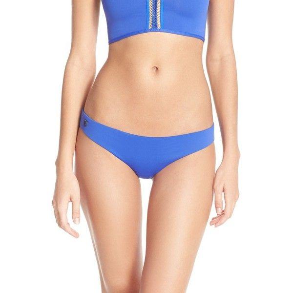 Maaji 'Sapphire' Reversible Bikini Bottom (€48) ❤ liked on Polyvore featuring swimwear, bikinis, bikini bottoms, navy, navy bikini, floral bikini, maaji bikini, floral print bikini and navy bikini bottoms