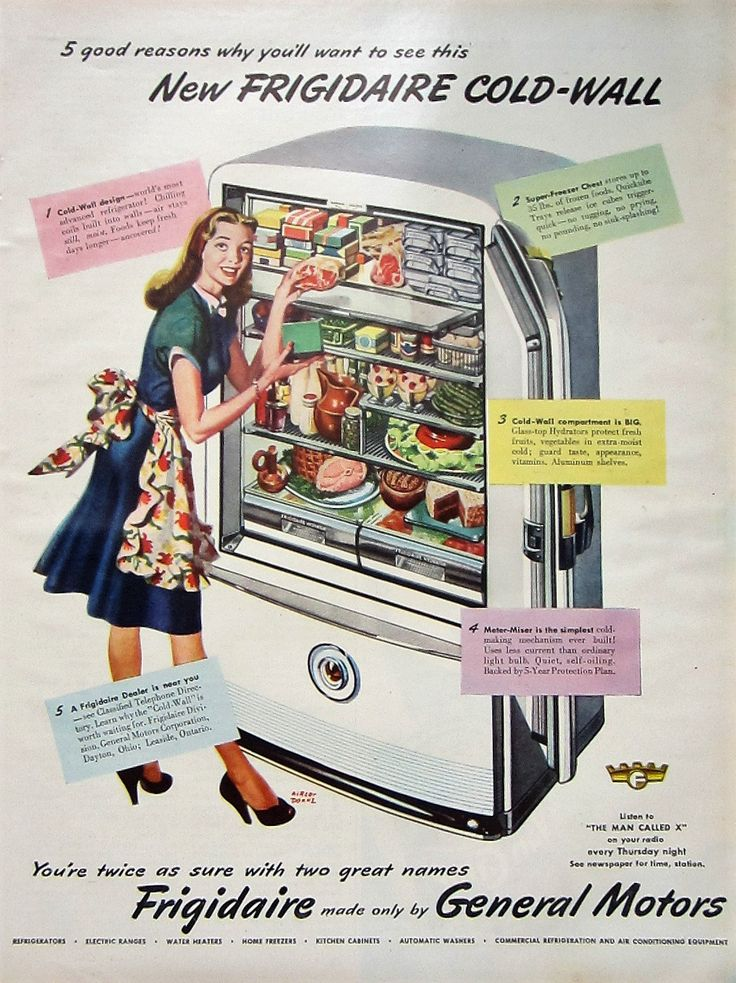 1947 Frigidaire Refrigerator Vintage Advertisement Kitchen Wall Art Appliance Decor Original Magazine Print Ad Fridge Paper Ephemera by RelicEclectic on Etsy