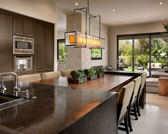 Everyday Dining Room Table Centerpieces Ideas: Dining Table And Island To  Maximizing Space With Dining. Contemporary Kitchen ... Part 66