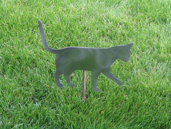 cat garden decor. Cat Garden Stake #cat #cats #garden #handmade #gift #present # Decor