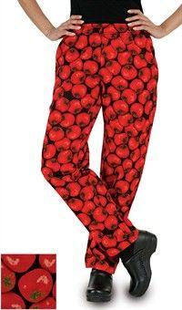 Style # 5601TOG: Pantalón de Chef para Mujer - Estampado Tomato Garden