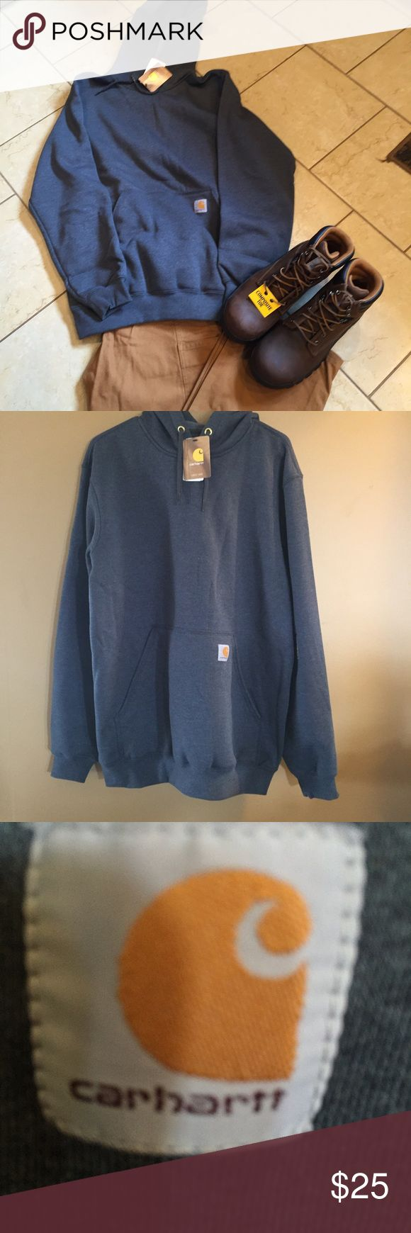 Men's Carhartt sweatshirt, NWT, size medium Men's Carhartt sweatshirt, NWT, size medium, original fit, grey, comes from a smoke free home. Carhartt Shirts Sweatshirts & Hoodies