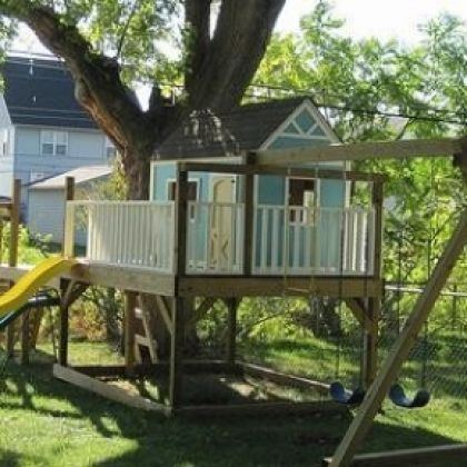 25 DIY Hideouts: Forts, Tents, Teepees and Playhouses. I'm in love with the Honeycomb playhouse plans. I already have 1/4 of the wood needed. I'm pretty sure I could build this during the time my kids are in school.