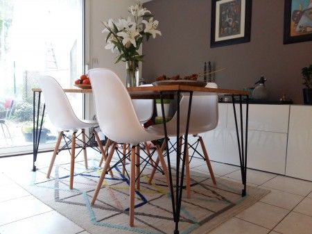 table haute hairpin legs