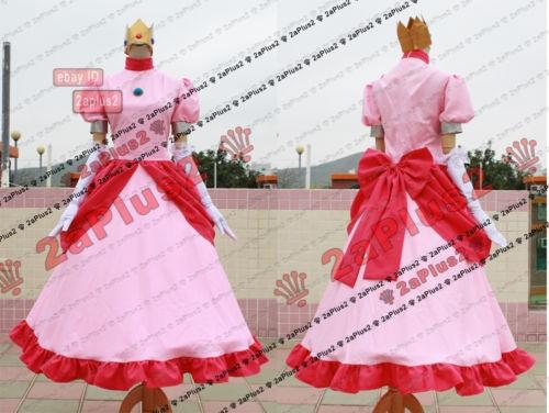 Super Mario BROS Princess Peach Cosplay Costume