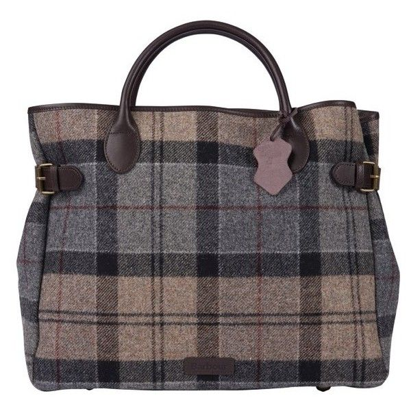 Women's Barbour Tartan Business Bag - Winter Tartan (25900 RSD) ❤ liked on Polyvore featuring bags, handbags, tartan handbags, plaid bag, real leather bags, 100 leather handbags and plaid purse