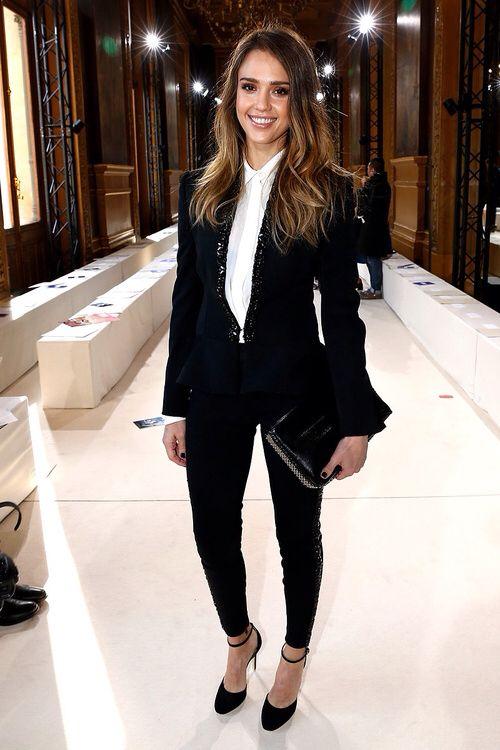women's tuxedo | Jessica Alba