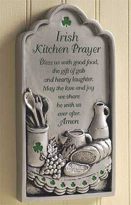 Irish Kitchen Prayer Plaque