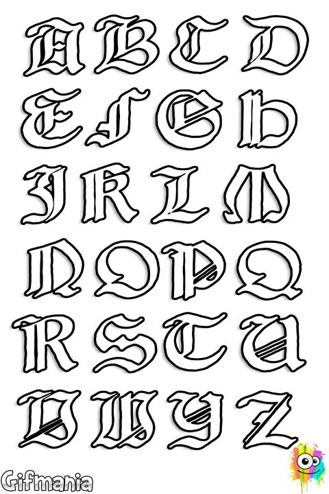 Letras medievales | Projects to Try | Pinterest