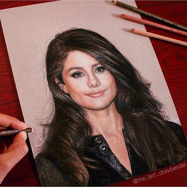 @selenaomez drawing