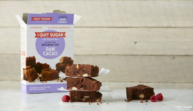 Here it is a sugar-free and gluten-free dessert, you're welcome. Our Raw Cacao  Brownie Mix is a great treat for everyone to enjoy. Now available at Woolworths. – I Quit Sugar