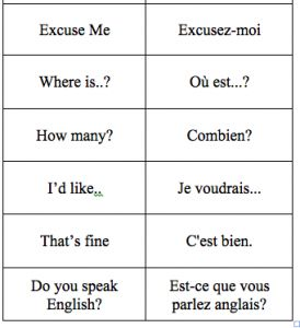 French 101 - the basics... need to start learning this language!
