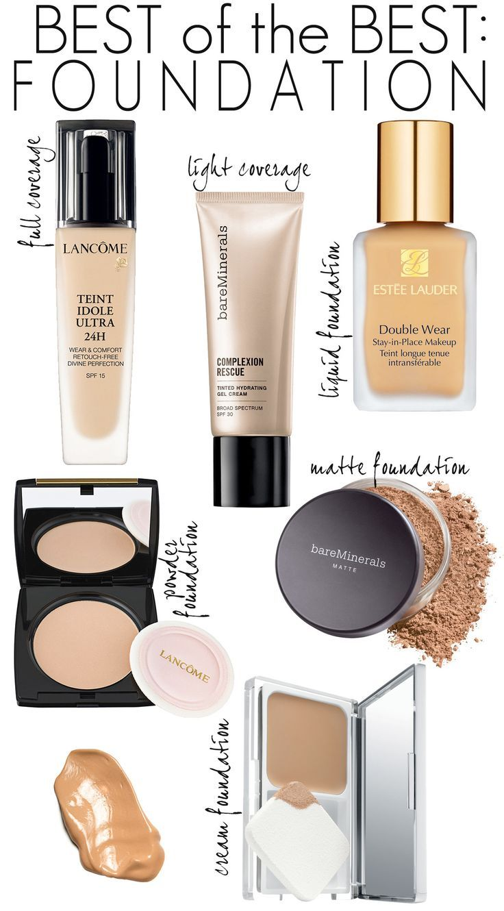 The best-selling department store foundations for every skin need. Whether you want full coverage, light coverage, liquid foundation, matte foundation, powder foundation or cream foundation, this list has the best-sellers in each category.