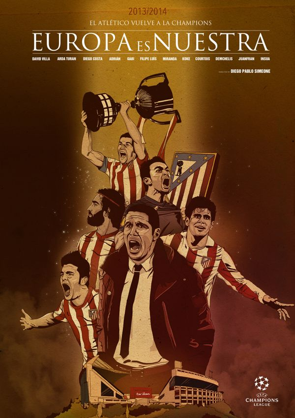 Atletico de Madrid by Oscar Llorens by oscar llorens, via Behance