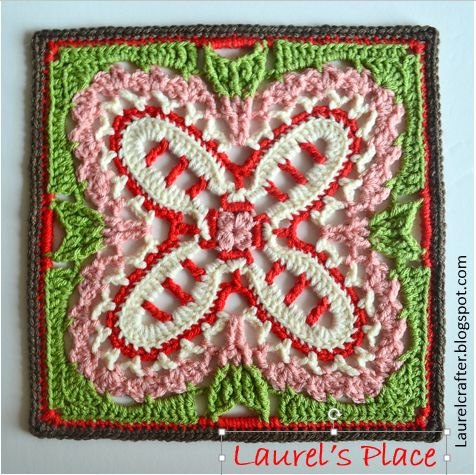 Laurel's /place: April Showers Brought....Lots of Crochet Flowers -- MANY BLOCK PATTERNS ON THIS POST!!!