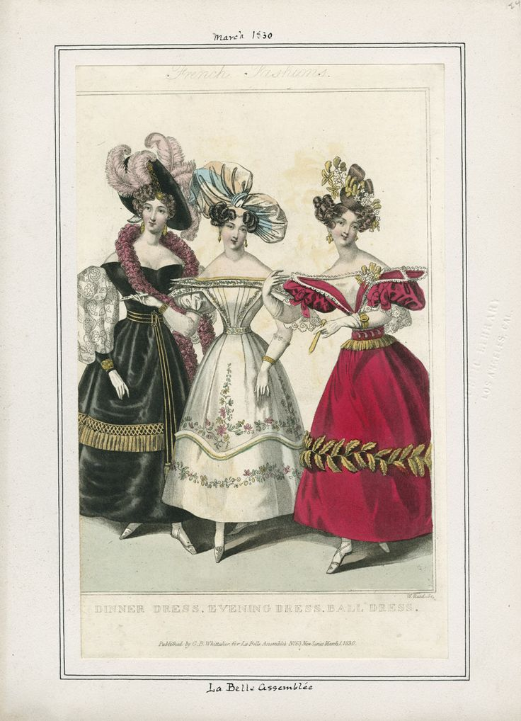 La Belle Assemblee March 1830 LAPL
