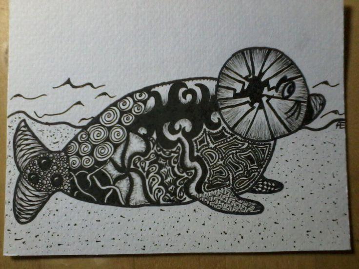 zentangle zeehond