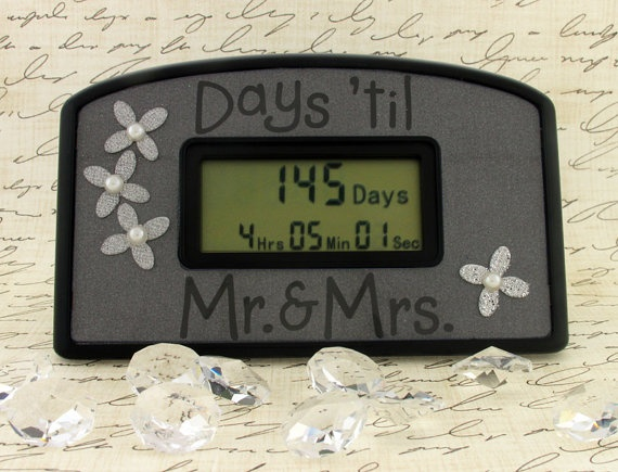 Items Similar To Days Til Mr Wedding Day Countdown Clock On Etsy