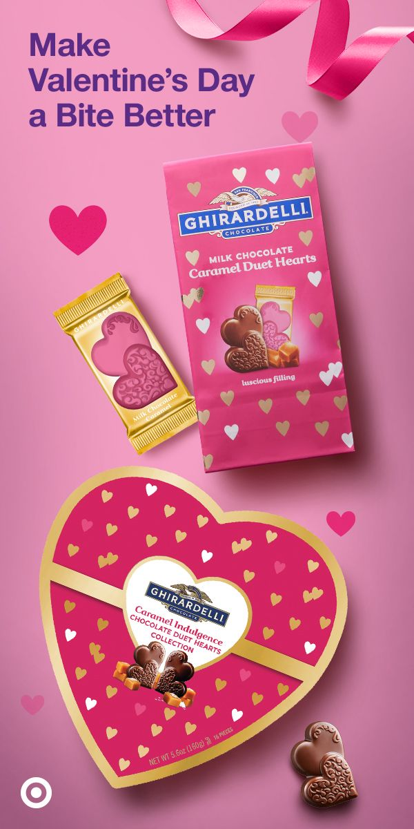 Celebrate Valentine S Day With Some Chocolatey Hearts Shop Ghirardelli Valentine S Day Milk Choco In 2020 Ghirardelli Valentines Day Chocolates Caramel Milk Chocolate
