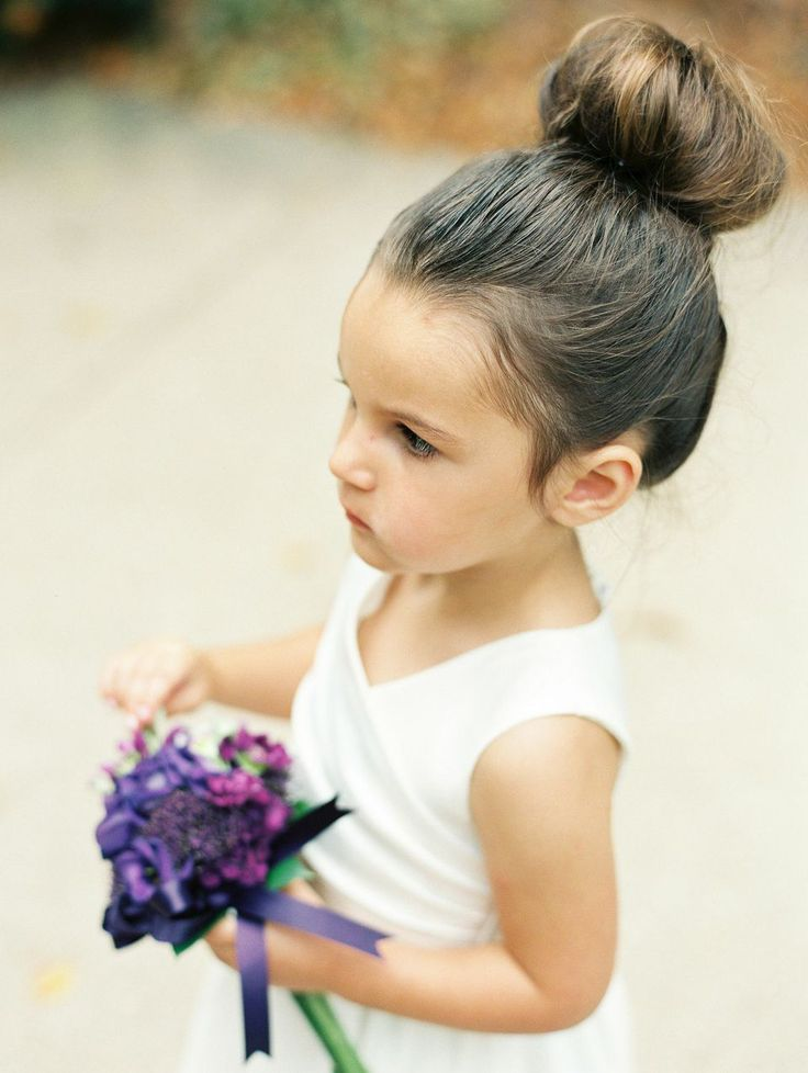 Magical Purple And Gold Wedding Flower Girl Hair