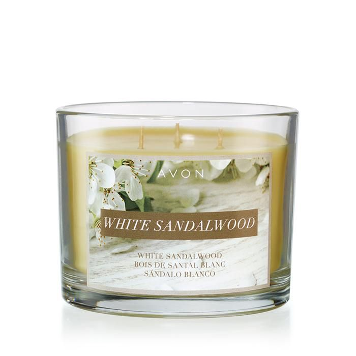 White Sandalwood Candle from Avon Relaxing as a spring breeze! Fill your home with this relaxing, calming candle with notes of sandalwood and musk. Take a deep breath and relax with a little aromatherapy. Buy from hschlickbernd.avonrepresentative.com