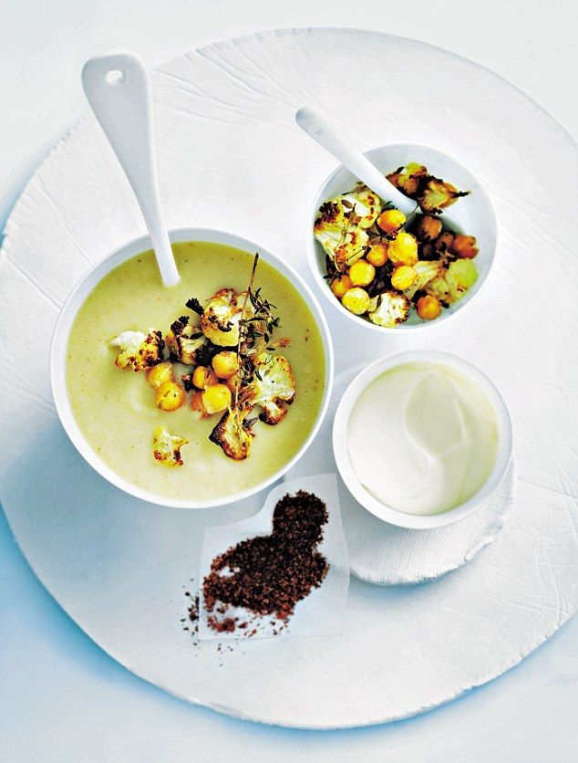 Donna Hay: Roasted cauliflower and chickpea soup   Daily Mail Online