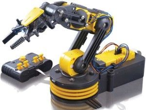 OWI Robotic Arm Edge This is a build it yourself robotic arm. Although  made out of plastic it doesn't really feel cheap.  Small cutters best for detaching the plastic parts. If your son, nephew, likes to make, fix, create, this could be for him.  http://awsomegadgetsandtoysforgirlsandboys.com/cool-gadgets-for-teenage-guys/ Cool Gadgets For Teenage Guys: OWI Robotic Arm Edge